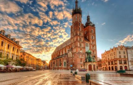 Главная площидь Кракова (Польша)