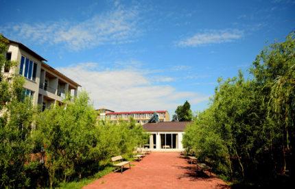 Отдых в Затоке Пансионат «Лиман» территория и номера